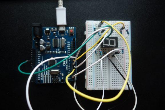 Display a sette segmenti con Arduino