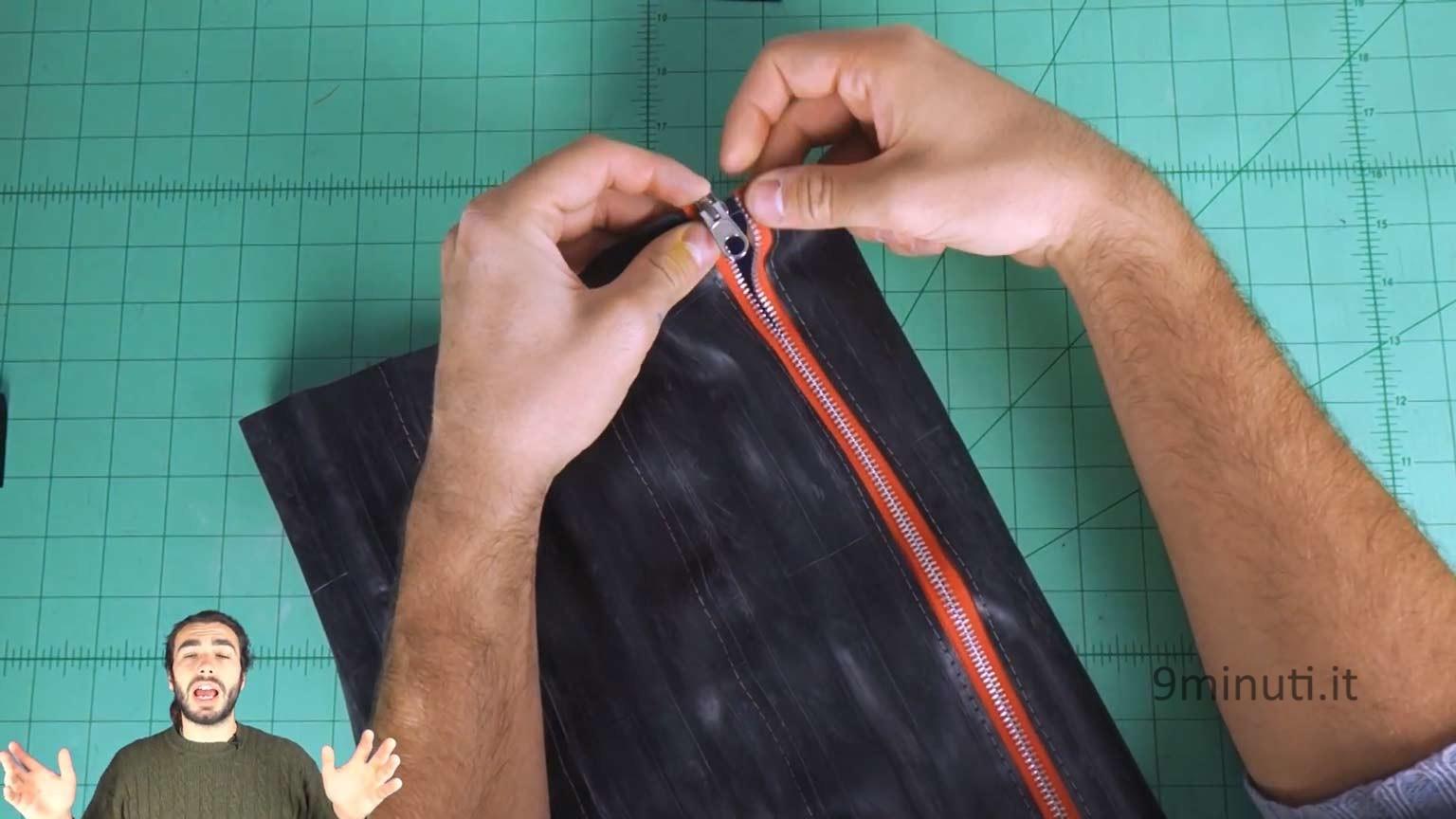 bag made with bike tubes