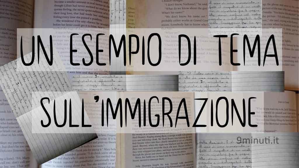 esempio di tema sull'immigrazione