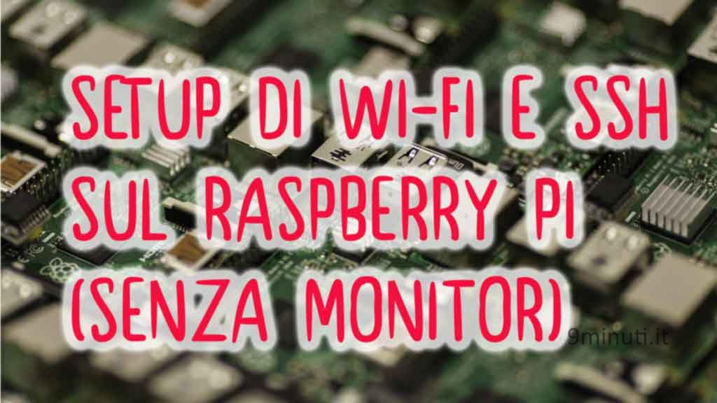 raspberry pi setup SSH no hdmi copertina